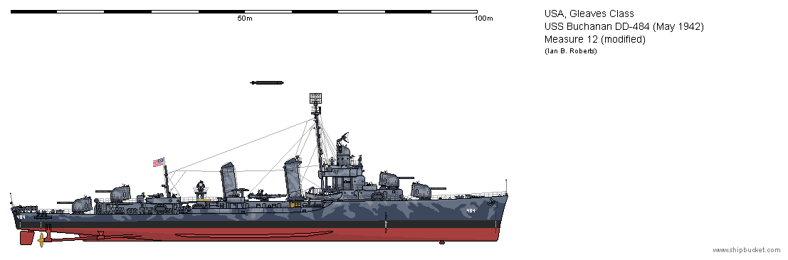 USS Buchanan DD-484 (May 1942) - Measure 12 mod by ColosseumSB