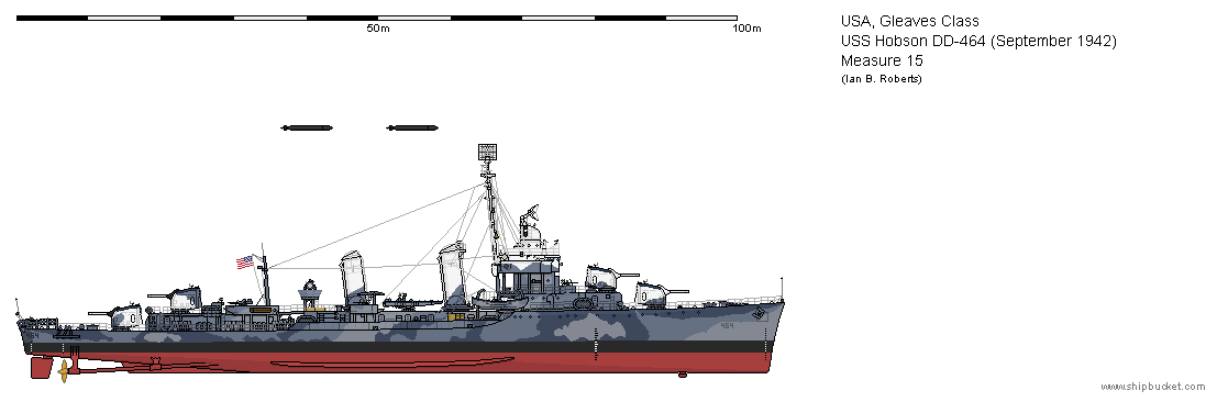 USS Hobson DD-464 (September 1942) - Measure 15 by ColosseumSB