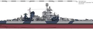 USS Iowa BB-61 (December 1944) - Measure 32/1B
