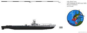 USS Pampanito SS-383 (July 1945) - Ms32/3SS-B