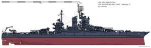 USS Idaho BB-42 (April 1945) - Measure 21