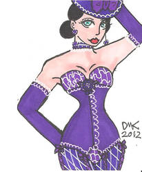 ACEO ATC Lady in Purple by MindOfPain