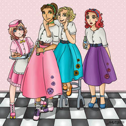 Poodle Skirts (Contest Entry) by All-is-Nonsense