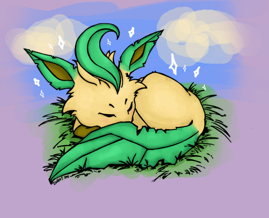 Shiny Leafeon has appeared by Silver-she-wolf-14 on DeviantArt
