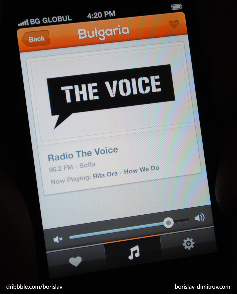 iPhone Radio App by borislav-dakov