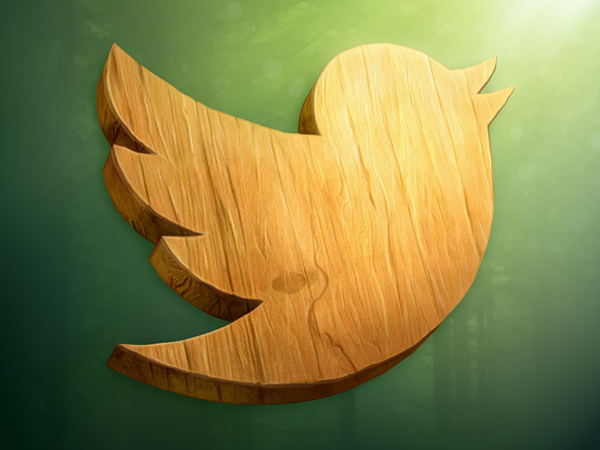 Wood Twitter Icon by borislav-dakov