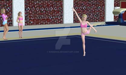 Anna floor excercise training 1 slave gym 1 w