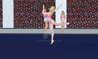Anna floor excercise training 1 slave gym 1