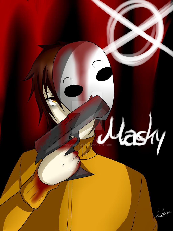 Creepypasta - Masky + Speedpaint by MogeOniYuuNeko on