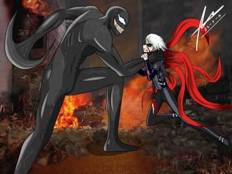 Venom v Kaneki by PowerSentai2016