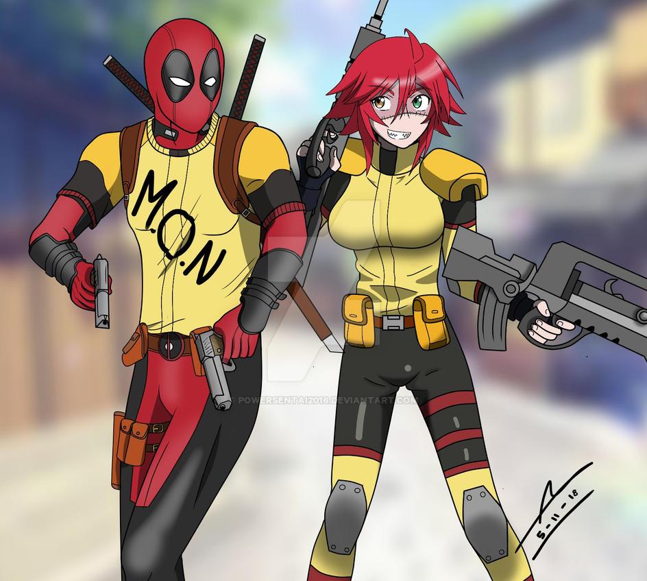 Deadpool member of M.O.N by PowerSentai2016