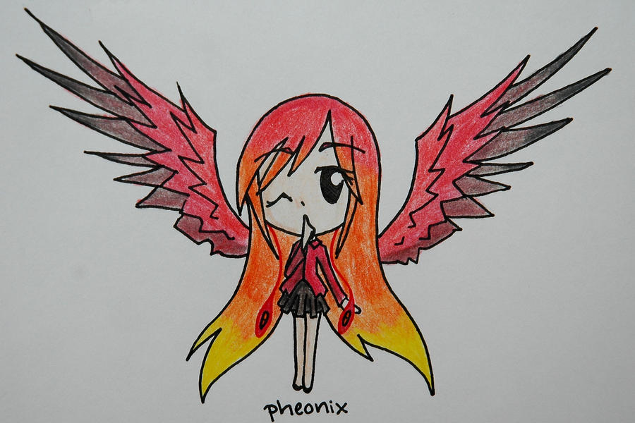 Wings Anime Phoenix Girl Www Picsbud Com
