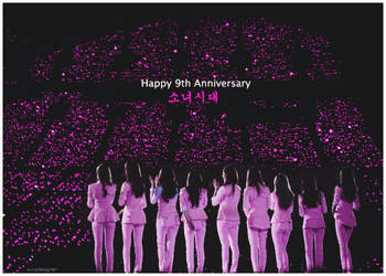[050816] HAPPY 9TH ANNIVERSARY WITH SNSD by surydesigner