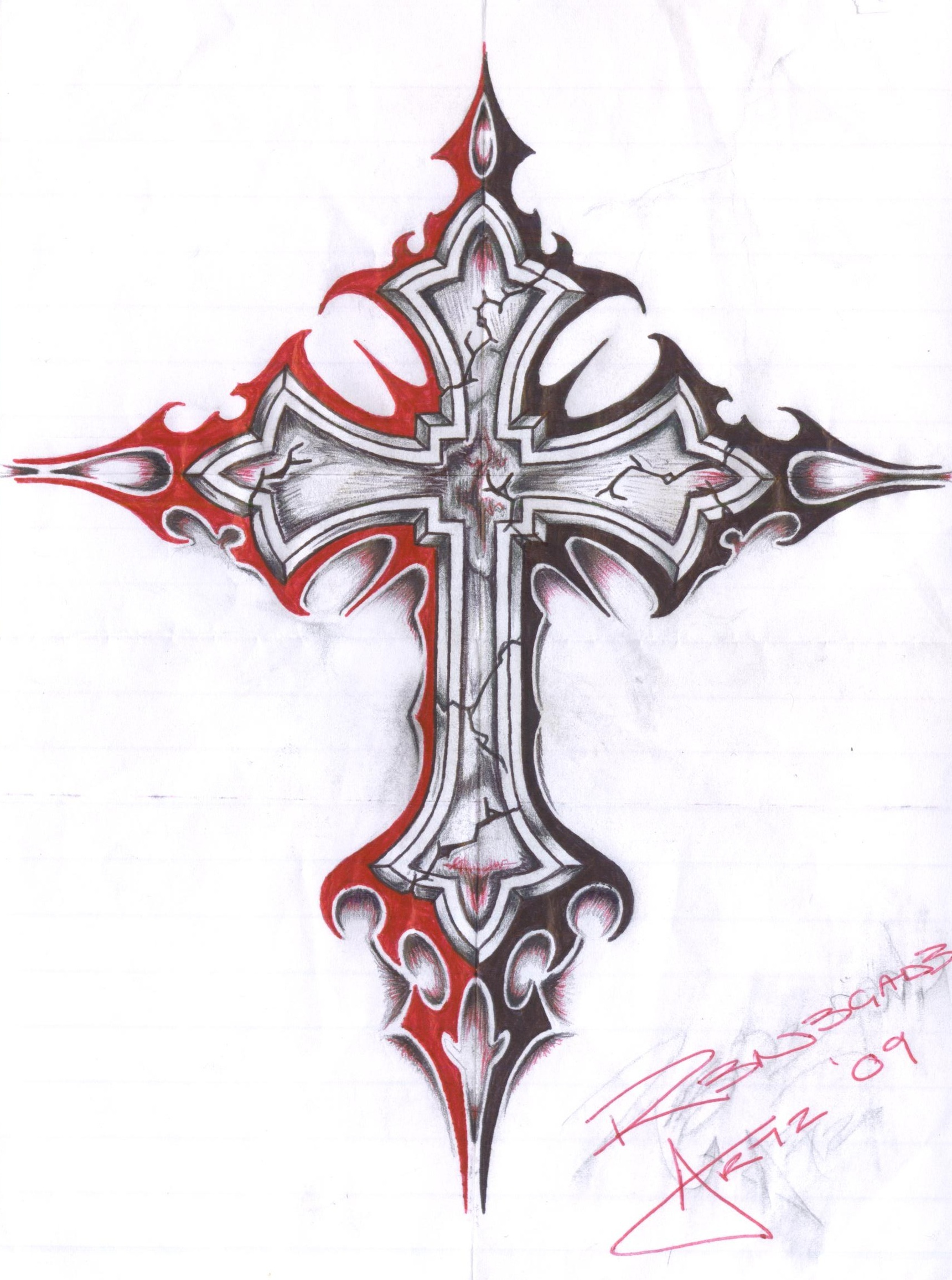 Gothic Cross by insomnosis on DeviantArt