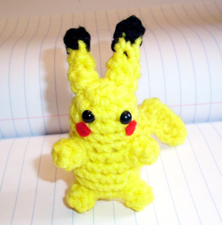 Small Pikachu Crochet Plush by happysquidmuffin on deviantART