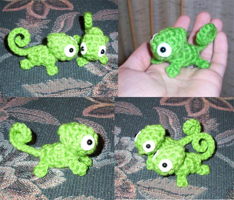 Crochet Amigurumi Chameleon Maltifo For