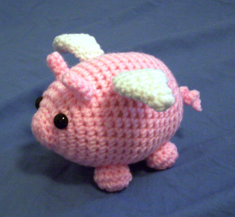 Mr. Sausage the Flying Piggy Plushie by happysquidmuffin