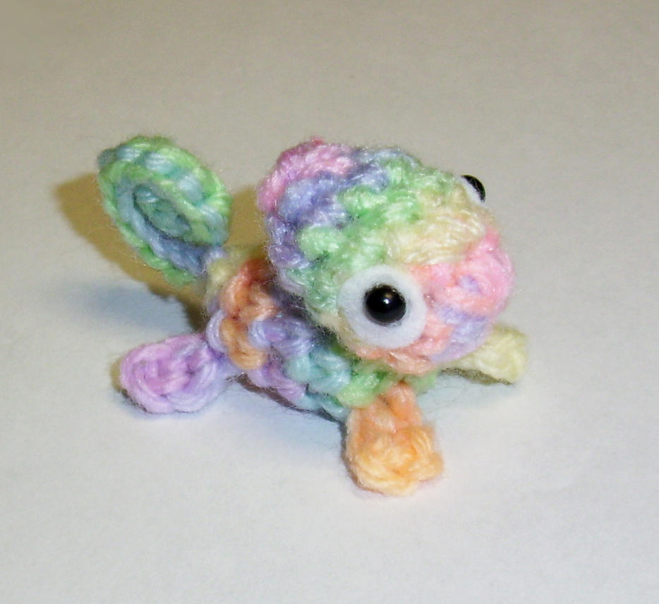 Pastel Rainbow Chameleon Crochet Plush by happysquidmuffin on DeviantArt