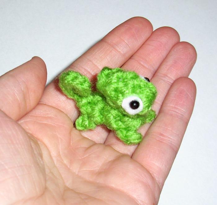 Micro Mini Chameleon Crochet Plushie By Happysquidmuffin On Deviantart