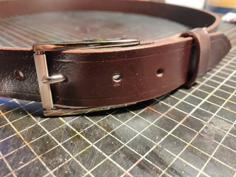 Elegant slim leather belt #1