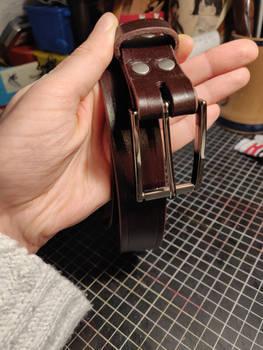 Elegant slim leather belt #2