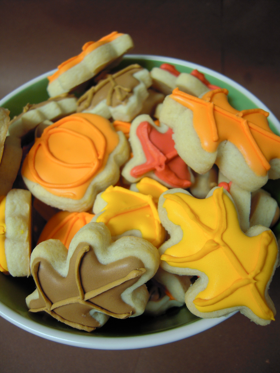 Mini fall cookies by MomentoMori08