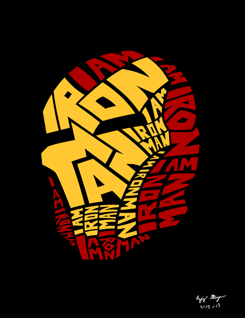 Iron Man Word Art by AzizDraws