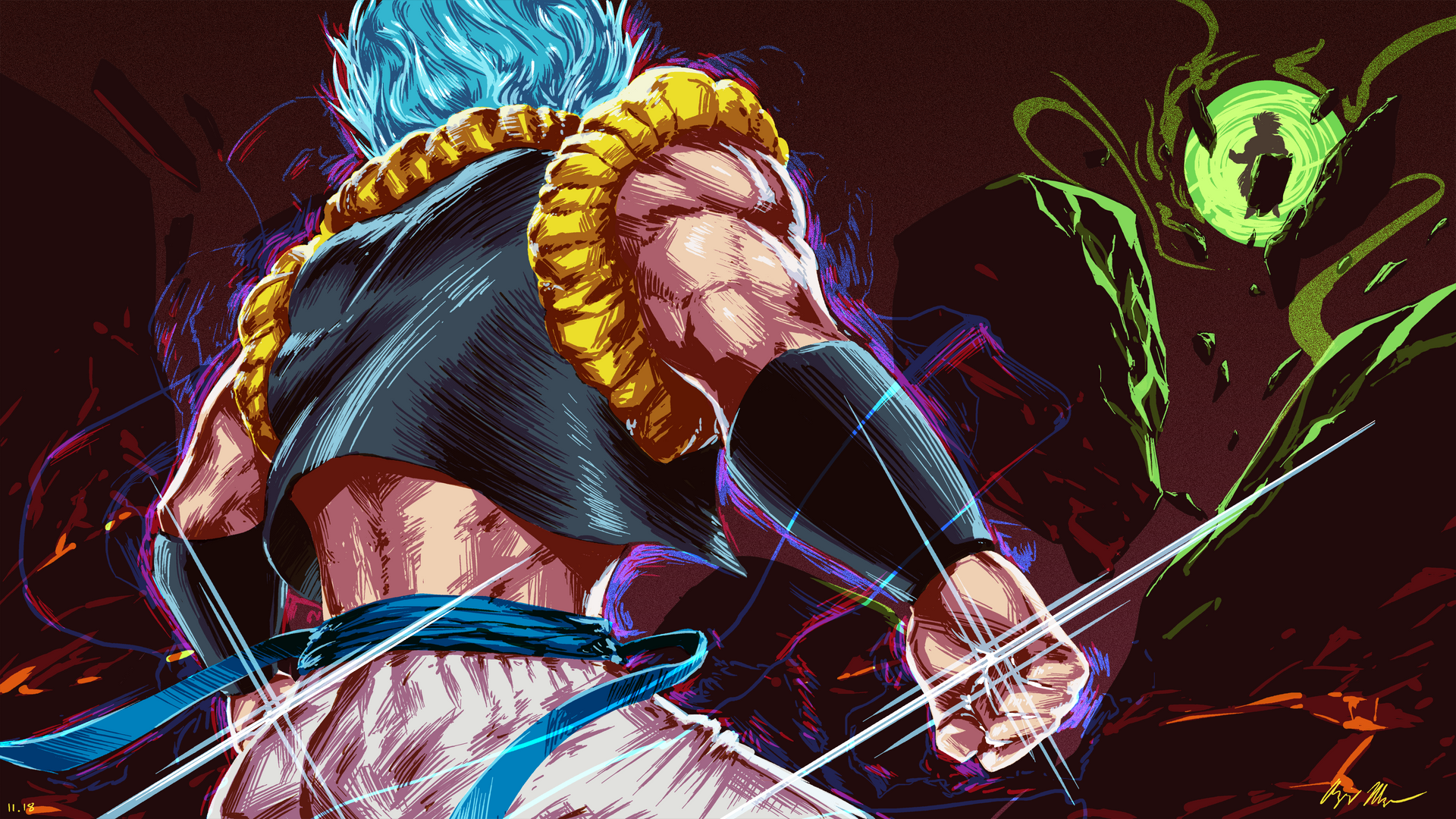Gogeta Dragon Ball Super Broly By Azizdraws On Deviantart
