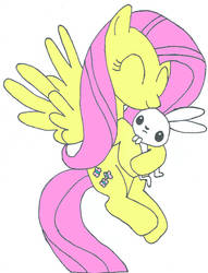 Fluttershy and Angel by Pau051