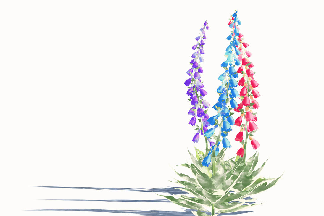 Pass Watercolor Flowers And Petals Foxglove By Nightsongws On Deviantart