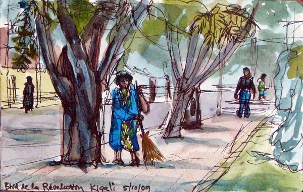 Kigali Street Sweeper