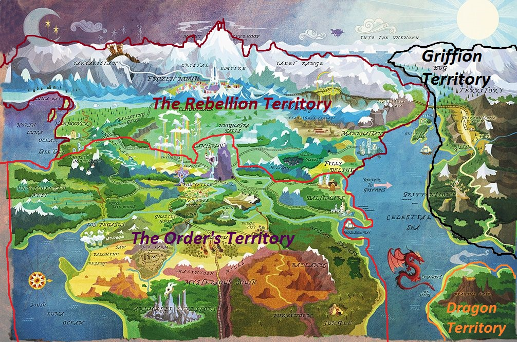 Map of Equestria Territories by dragon499