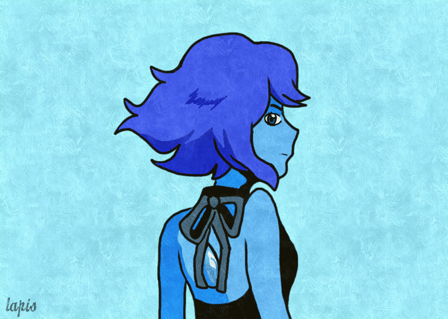 Took a shot at Lapis from Steven universe. A lot of blues haha.