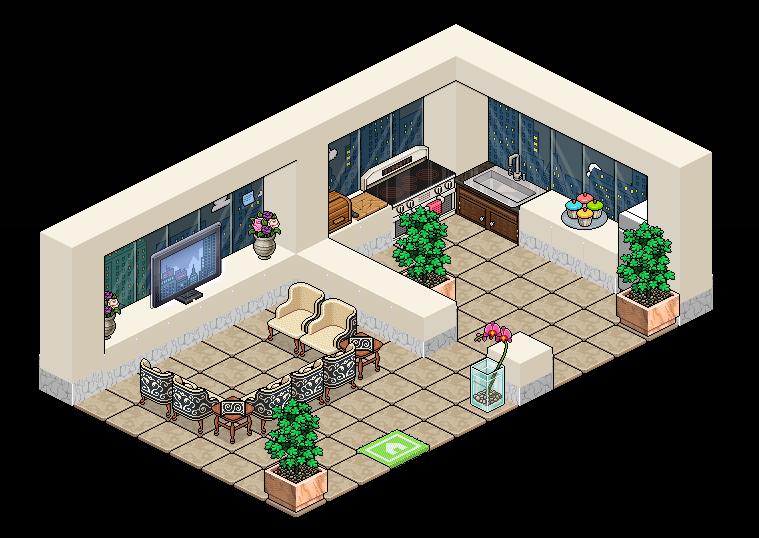 Room idea by HendHabbo on DeviantArt