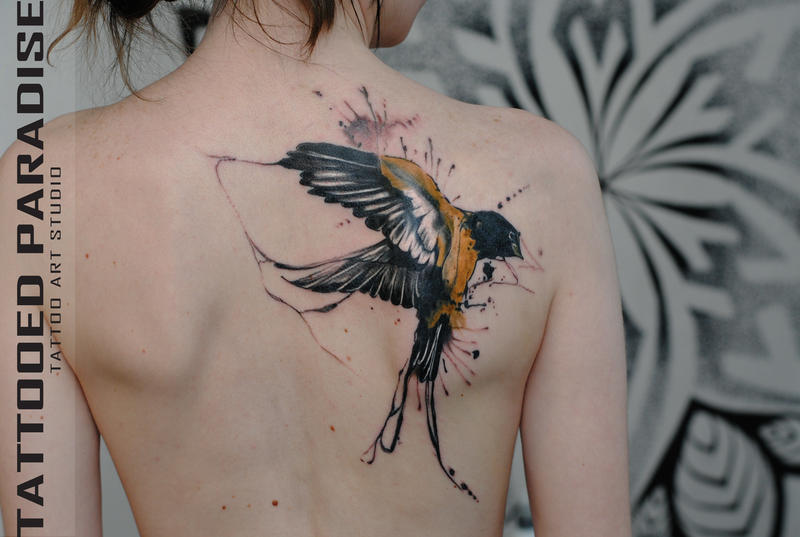swallow tattoo by dopeindulgence