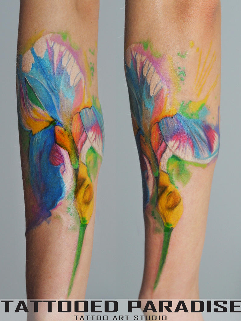 Iris watercolor tattoo by dopeindulgence on deviantart iris watercolor tattoo by dopeindulgence iris watercolor tattoo by dopeindulgence izmirmasajfo Images
