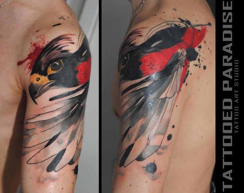 falcon tattoo by dopeindulgence