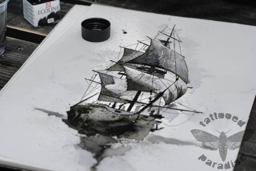 ship watercolor