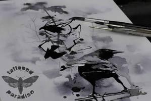 watercolor sketch by dopeindulgence