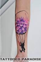 flower parachute by dopeindulgence