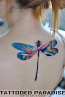 tatt dragonfly by dopeindulgence
