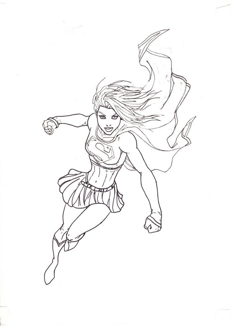 Supergirl sketch by PGLinda on DeviantArt