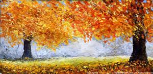 autumn painting-oil painting 'Golden Waltz au