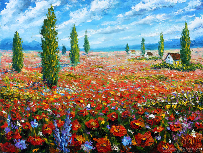 Flowers oil painting the field of red poppies by wwwrybakowcom on flowers oil painting the field of red poppies by wwwrybakowcom mightylinksfo