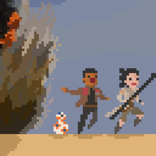 Star Wars Pixel Art Rey Finn And Bb 8 By Endlesssorrow33