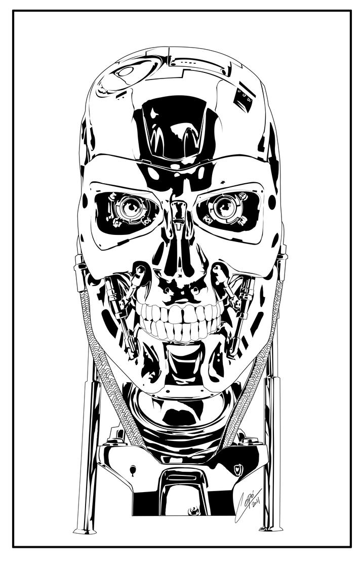 Terminator T 800 Coloring Pages Coloring Pages