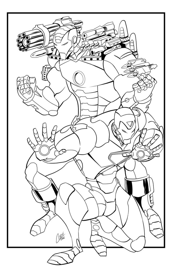 iron man 2 coloring pages - iron man and war machine by jorgecopo on deviantart