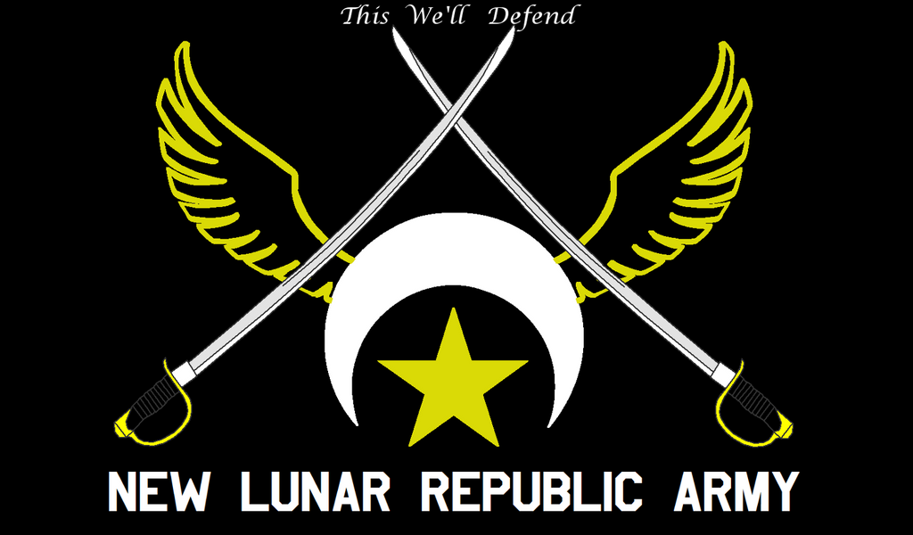New Lunar Republic Army Flag by lonewolf3878