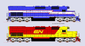 Equestria National Railway SD-40T-2's