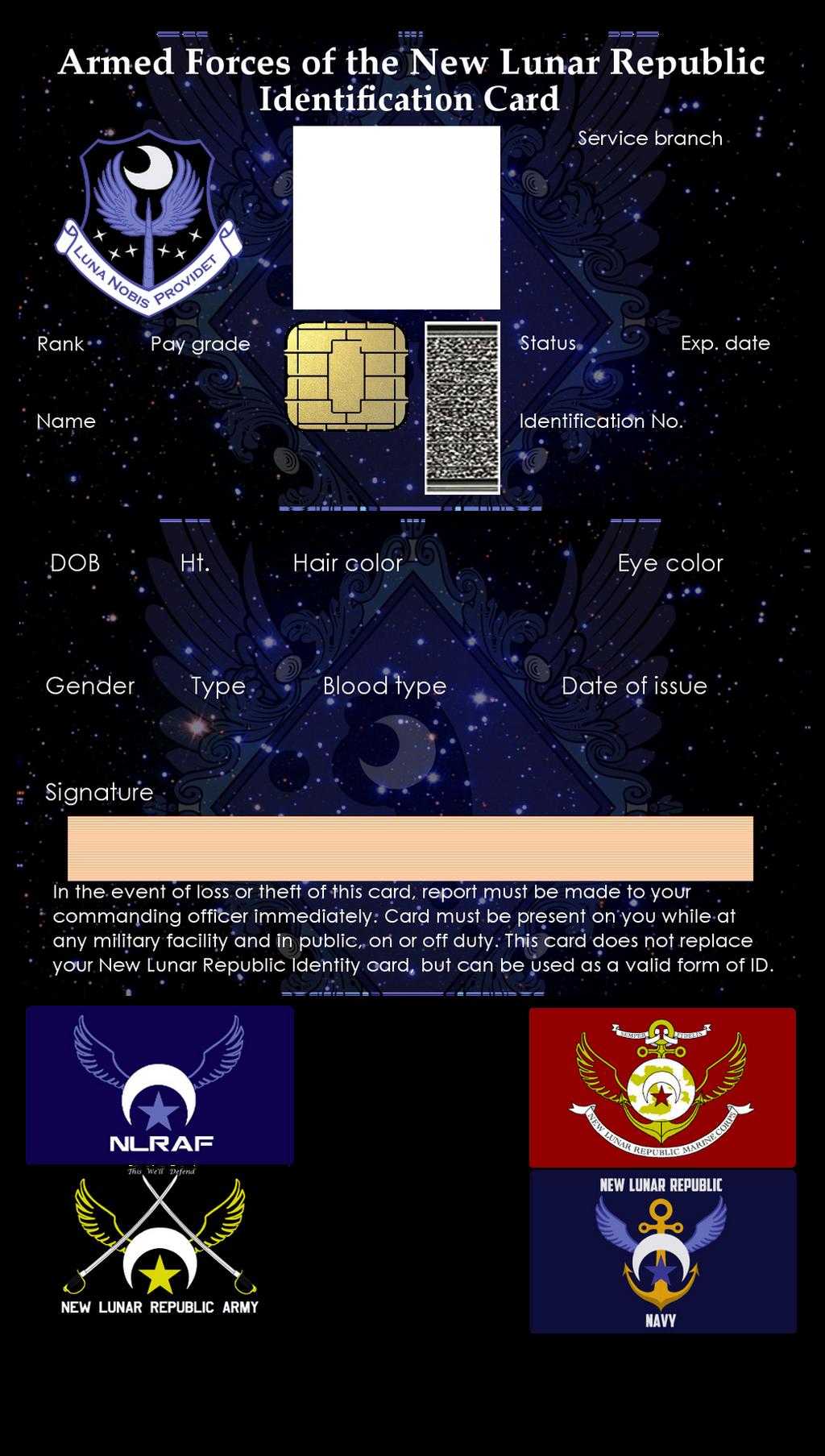 New Lunar Republic Military ID Card Kit by lonewolf3878